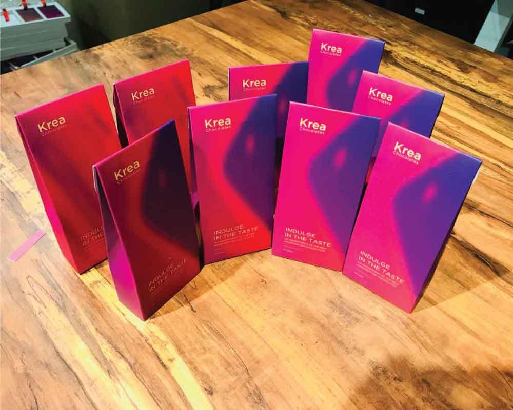 Kreatica designs - Chocolate Printed Folding Box