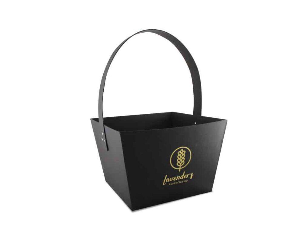 kreatica designs -Lavenders Customized Flower Basket